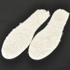Lambs Wool Shoe Insole Pads - White (Size 33~46)