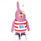 Cute Vinyl Usavich Prison Rabbit Toy Doll Coin Bank - Purple + Red + White