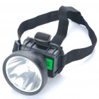 2-Mode 3W 80LM LED Yellow Light Headlamp - Black (1x18650)