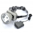 GTL 2-Mode 180Lm 5W 1-LED White Light Headlamp (2 x 18650 / Grey)