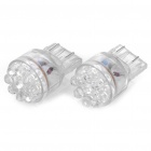 W3x16D 9-LED Car Tail/Brake White Light Bulbs - Pair (DC 12V)