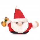 Cartoon Plüsch Santa Claus Spielzeug-Puppe w / Suction Cup - White + Red + Gold + Schwarz