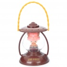 Tony Chopper Style Yellow Light Mini Desk Lamp - Brown + Pink (2 x AA)