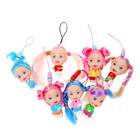 Colorful Cute Braids Moppet Cell Phone Straps (7-Pack)