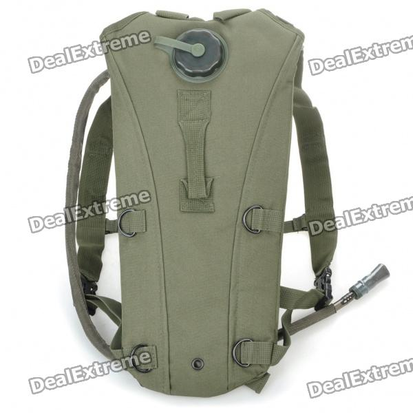 Durable Outdoor Survival Water Bag Backpack with Water Tube - Army Green (2.5L) army green adjustable outdoor sport bag multifunction pockets hunting fishing vest tactical backpack fish accessory
