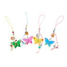Butterfly Cell Phone Straps with LED Activity Indicator (12-Pack)