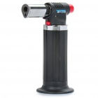 Outdoor Windproof Butane Jet Flame Lighter - Black