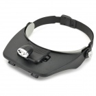 Professional Headband Type 1-LED Lamp + Magnifier with 4 Different Multiple Lens (3 x AAA)