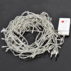 100-LED 8-Mode Soft Flexible LED Decoration Light Strip for Christmas - Red Light (220V/10m)