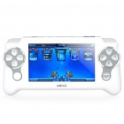 "4.3"" LCD Resistance Touch Screen Handheld Game Console Multimedia Player - White (4GB)"