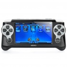 "4,3 ""LCD Touch Screen Resistance Handheld-Konsole Multimedia Player - Black (4GB)"
