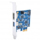 USB3.0 + SATA II 3G PCI-E Card - Blue (5Gbps)