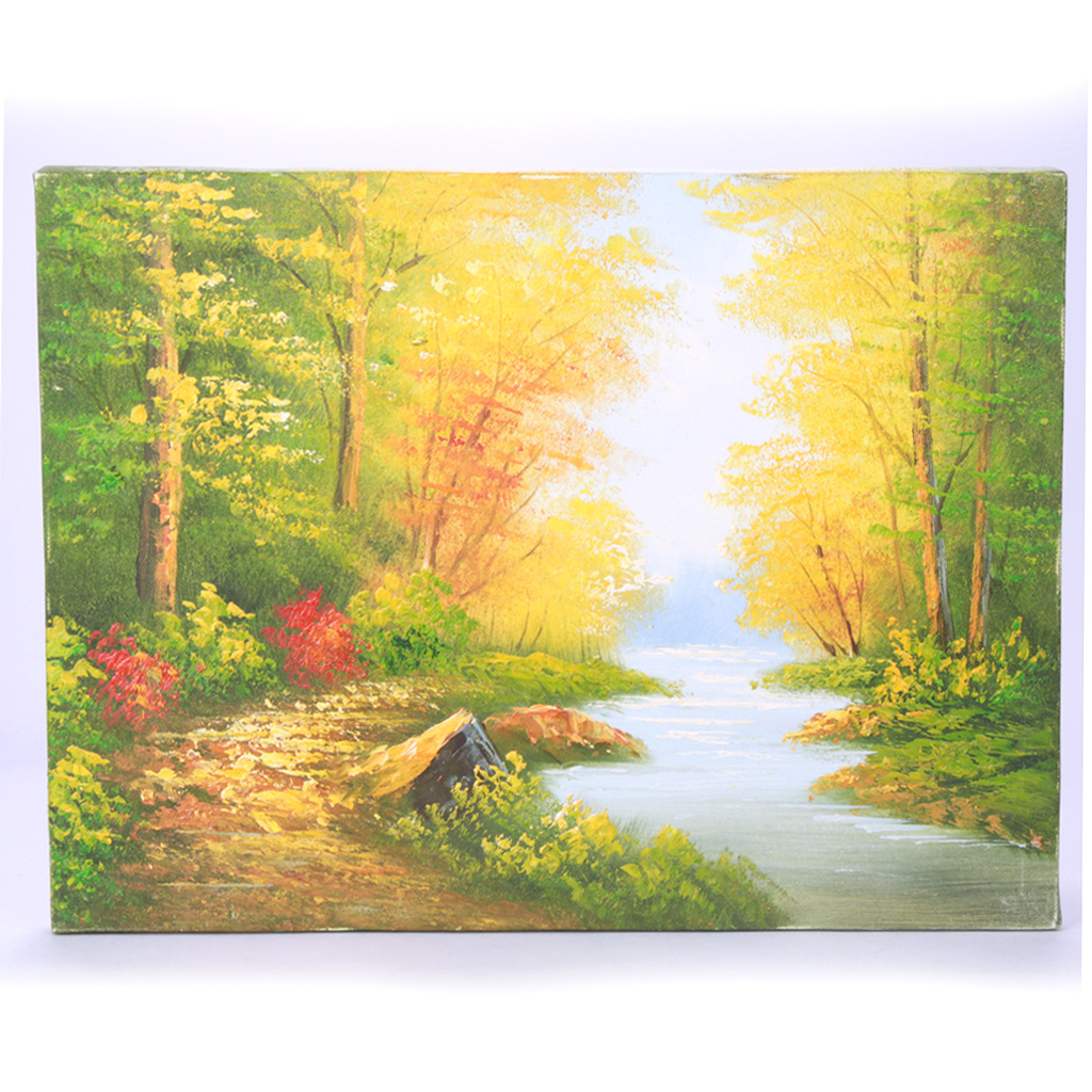 Handmade Hand Painted Oil Painting with Wood Frame - Autumn