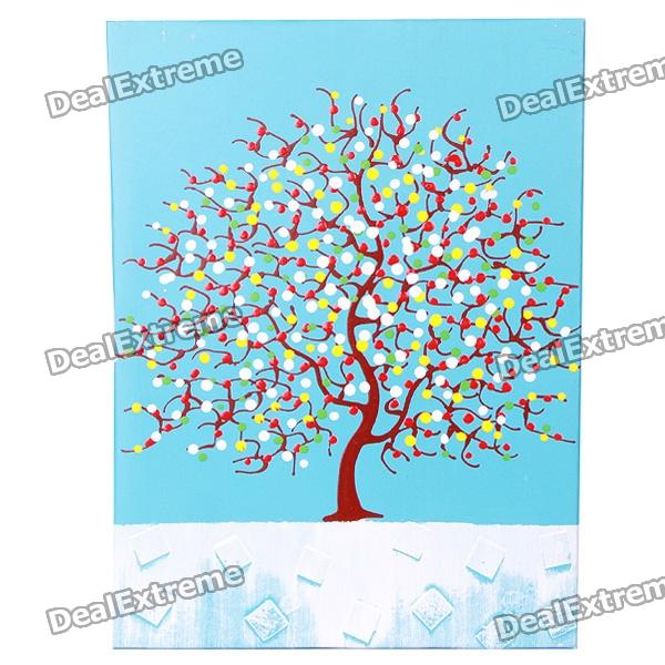 Handmade Hand Painted Oil Painting with Wood Frame - Apple Tree