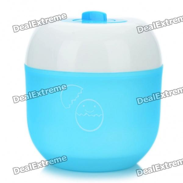 Kitchen Egg Braiser w/ Timer - Blue + White