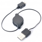 Retractable USB Charging Cable for Samsung Cell Phone - (68cm-Cable / 2-Pack)