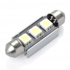 0.2W 30LM 3-LED Cold White Light Double Pointed Reading Lamp (12V)