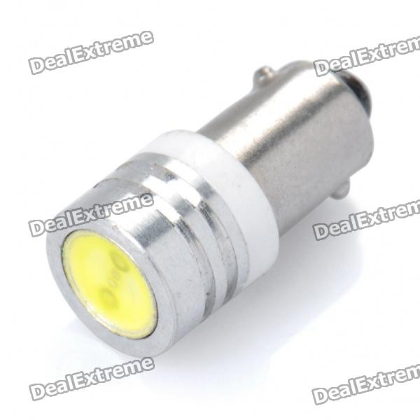 10-20LM 6000-6500K BA9S 1-LED White Light Lamp (1W/12V)