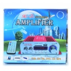 "1.8"" LED 40W Hi-Fi Stereo Amplifier MP3 Player w/ FM / SD/ USB for Car / Motorcycle - Red + Silver"