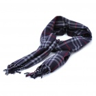 Classic Cotton Check Plaid Scarf Shawl - Black