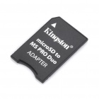 Genuine Kingston Micro SD / TF, MS Pro Duo Card Adapter - Schwarz