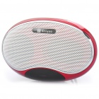 Portable USB Rechargeable Music Speaker Player with FM/TF - Lemon Red