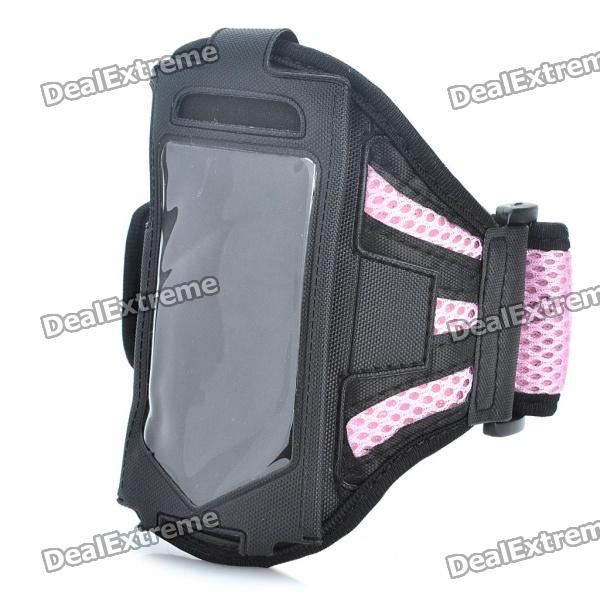 Sporty Armband for Samsung Galaxy Ace S5830 - Pink + Black