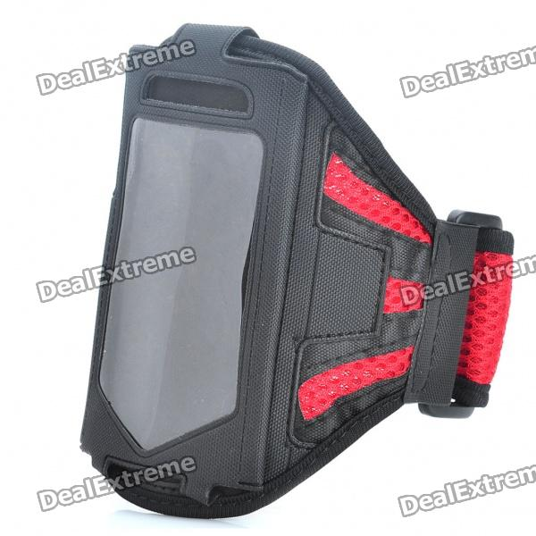 Sporty Armband for Samsung Galaxy Ace S5830 - Red + Black
