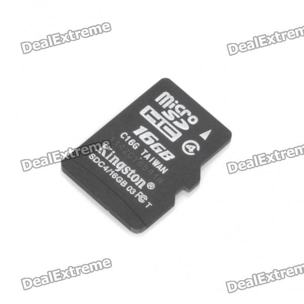 Genuine Kingston Class 4 Micro SDHC TF Card with SD Adapter (16GB)