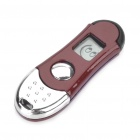 Anti-Static Static Removal Prevent Shock Keychain (Red Brown + Silver)