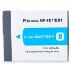 "Replacement NP-FD1 / BD1 3.6V ""800mAh"" Battery for Sony T200 / T70"