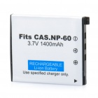 Rechargeable 3.7V/1400mAh Lithium Battery for Casio Digital Camera - White