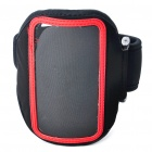 Stylish Sports Armband with Stylus for Iphone 4/4S - Black + Red