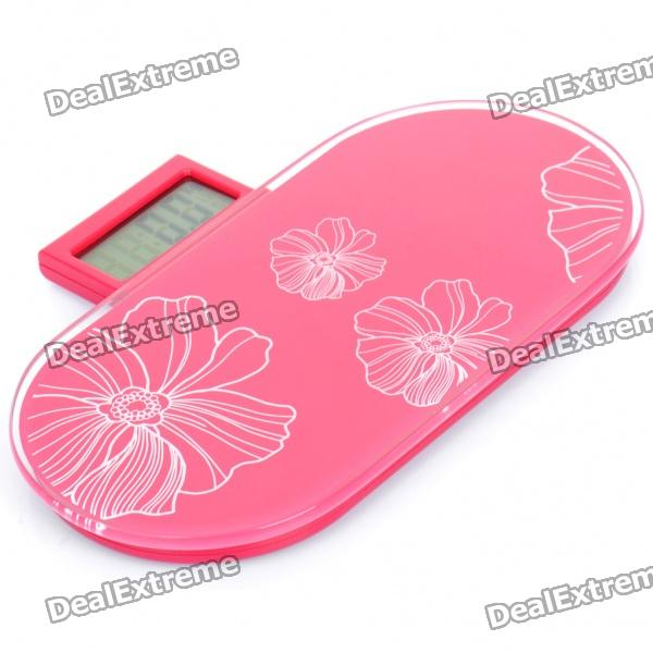 Portable 2.5 LCD Digital Bathroom Body Weight Scale - Red (150Kg / 0.1Kg) compact portable 2 0 lcd digital personal body weight scale 2 aaa 0 3 150kg