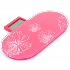 "Portable 2.5"" LCD Digital Bathroom Body Weight Scale - Red (150Kg / 0.1Kg)"