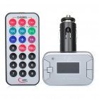 "1.2"" LCD Car MP3 Player FM Transmitter w/ USB / SD / TF Slot - Silver (DC 12V)"