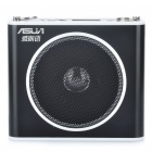 "ASUA 1.0"" LCD Multi-Function MP3 Player Megaphone Voice Amplifier with FM / TF / Mic Jack (Black)"