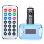 "1.2"" LCD Car MP3 Player FM Transmitter w/ USB / SD / TF Slot - Blue (DC 12V)"