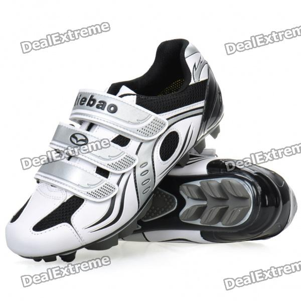 Stylish Mountain MTB Bike Cycling Carbon Fiber Practical Shoes - White + Black (EUR Size-40)