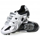 Stylish Mountain MTB Bike Cycling Carbon Fiber Practical Shoes - White + Black (EUR Size-41)