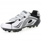 Stylish Mountain MTB Bike Cycling Carbon Fiber Practical Shoes - White + Black (EUR Size-44)