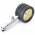 Professional 8mm Tire Pressure Gauge w/ Michelin Pattern - Black + Silver + Yellow