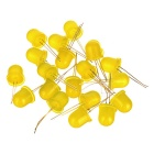 12mm 1.8V~3V Yellow LED Emitters (20-Pack)