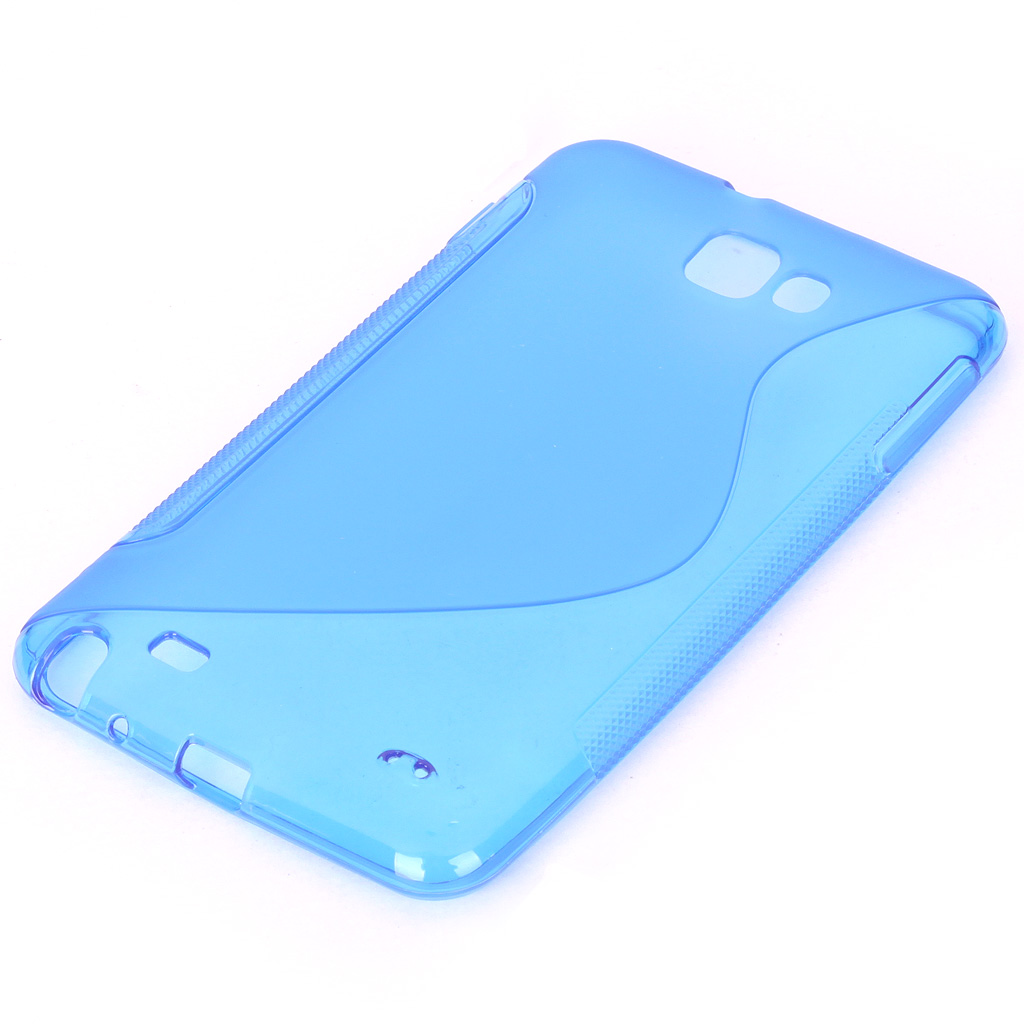 Protective TPU Case for Samsung Galaxy Note i9220 - Translucent Blue mhl docking station for samsung galaxy note i9220 black silver
