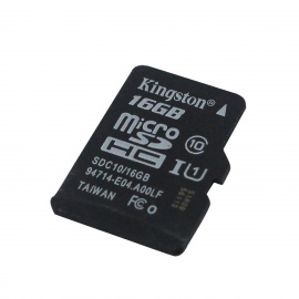 Genuine Kingston Micro SDHC Class 10 TF Card - Black (16GB)