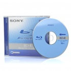 Genuine Sony BD-R Recordable 25GB 6X Speed Write-Once Blu-Ray Disc - Blue + Black