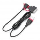 PowerSync USB Male to Mini USB / Micro USB Male Charging / Data Cable w/ Apple 30pin Adapter (100cm)