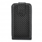 Protective PU Leather Cover PC Holder Case for HTC G16 - Black