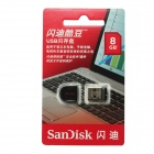 SanDisk Cruzer Fit Super Mini USB 2.0 Flash Drive - Black (8GB)