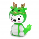 Spring Shaking Head Baby Dragon Feature Display Toy - Green